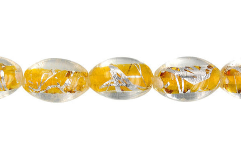 Lines Foil Glass Drum (Yellow)