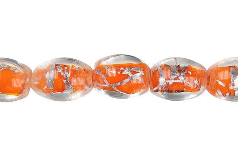 Lines Foil Glass Drum (Orange)