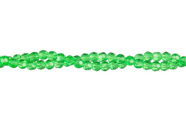 Chinese Crystal (Green) Faceted Round