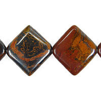 Tiger Iron (AAA) Diamond Square Beads