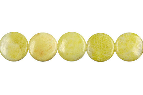 Lemon Jade Coin Beads