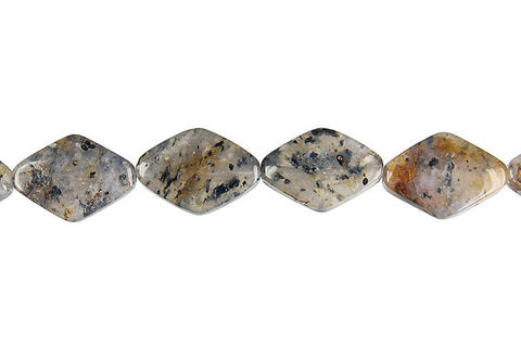 Sesame Rock Crystal Diamond Beads