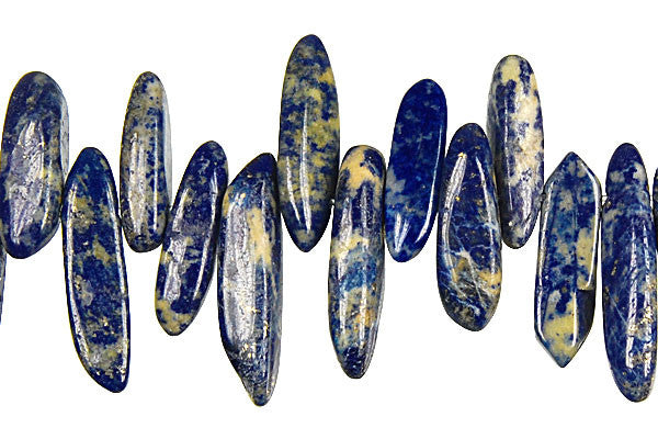 Lapis Tooth Nugget Beads