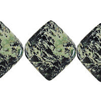 Fireworks Jasper Diamond Square Beads