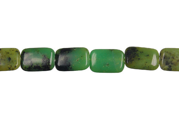 Chrysoprase (Australia) Flat Rectangle Beads