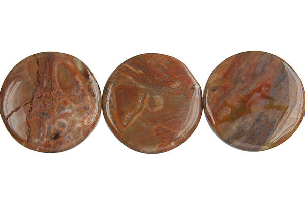 Amber Onyx Coin Beads