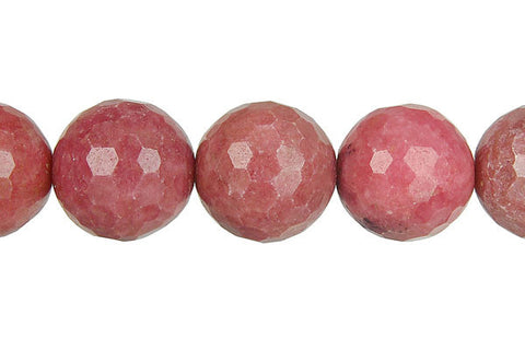 Rhodonite Faceted Round Beads