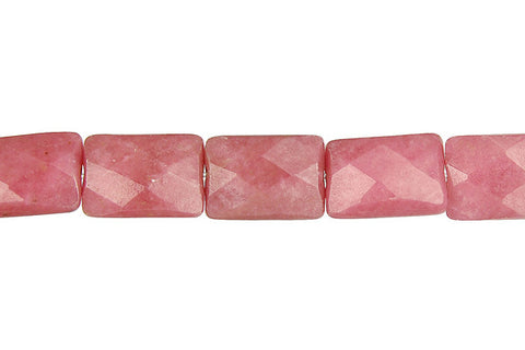 Rhodonite Faceted Rectangle Beads