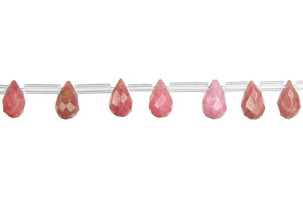 Rhodonite Faceted Briolette Beads