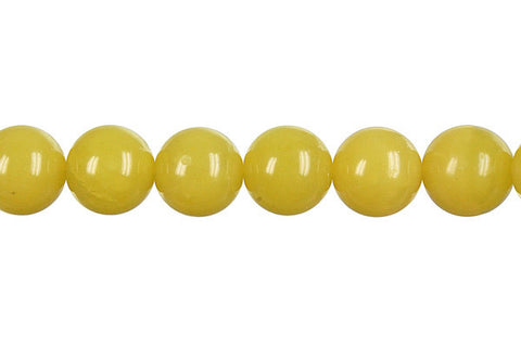 Olive Jade (Light) Round Beads