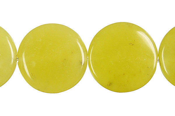 Olive Jade (Light) Coin Beads