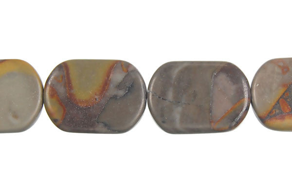 Golden Jasper Rectangle Round Corner Beads
