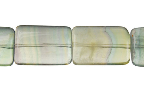 Fluorite (A) Puffy Rectangle Beads