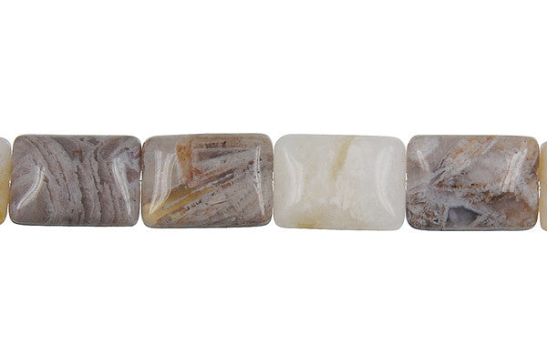 Bamboo Leaf Agate Rectangle Beads
