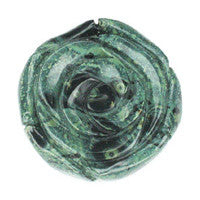 Pendant Kambaba Jasper Carved Rose