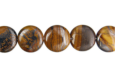 Tiger Iron (AAA) Coin Beads