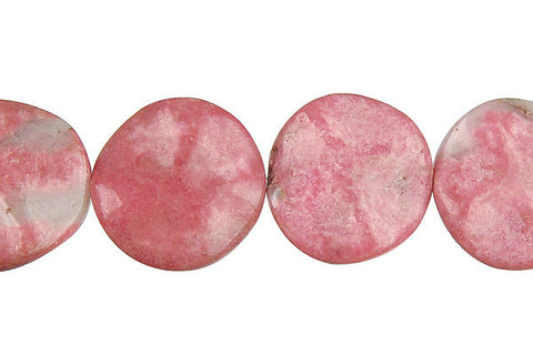 Rhodonite Coin Beads