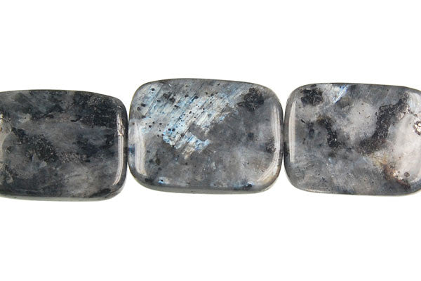 Larvikite Flat Rectangle Beads