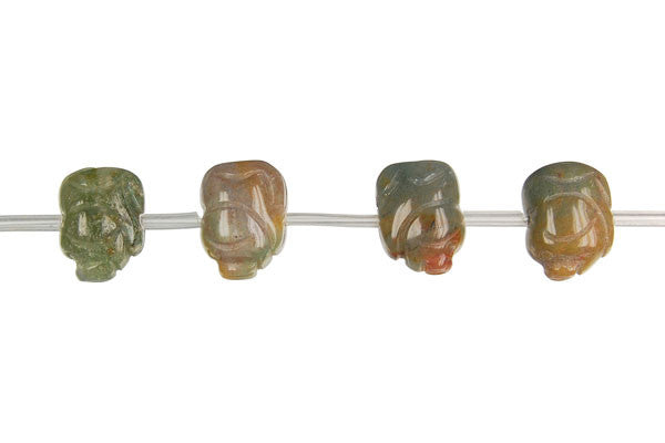 Fancy Jasper Carved Piggy Beads