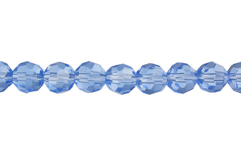 Chinese Crystal (Aqua) Faceted Round (Micro Faceted)