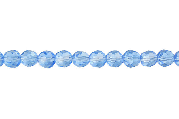 Chinese Crystal (Aqua) Faceted Round