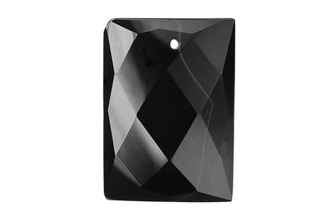 Pendant Black Onyx (AAA) Faceted Rectangle