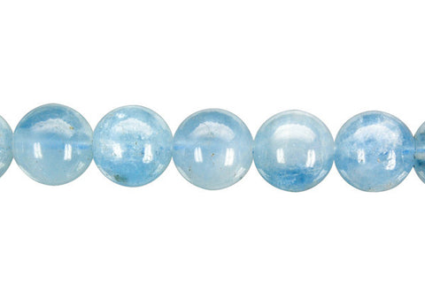 Aquamarine Round (A) Beads