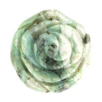 Pendant Peace Stone Carved Rose