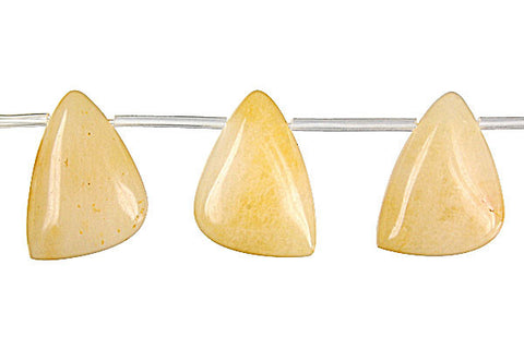 Yellow Jade Triangle Beads