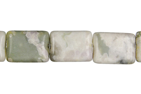Peace Stone Flat Rectangle Beads