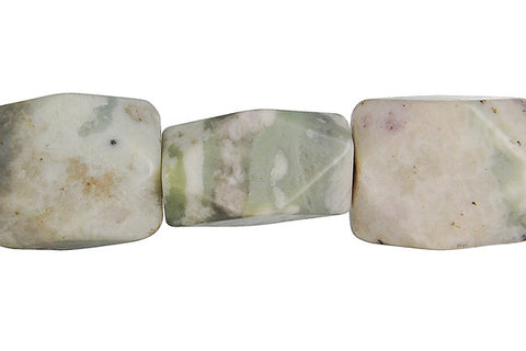 Peace Stone Faceted Nugget Beads