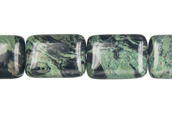 Kambaba Jasper Flat Rectangle Beads