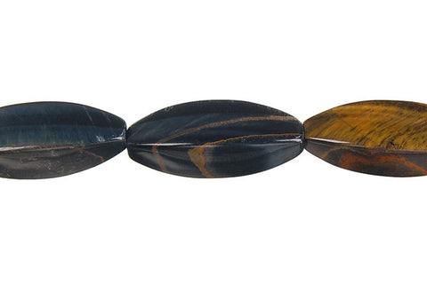 Blue Tiger Eye Square Rice Beads