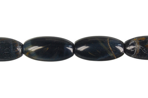Blue Tiger Eye Rice Beads