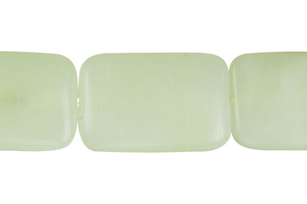 New Jade Puffy Rectangle Beads