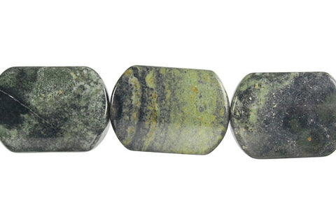Kambaba Jasper Rectangle Flat Oval Beads