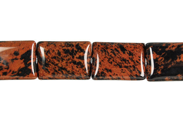 Mahogany Obsidian Flat Rectangle Beads