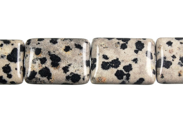 Dalmatian Jasper Flat Rectangle Beads