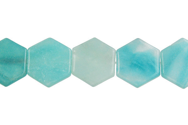 Amazonite Hexagon Beads