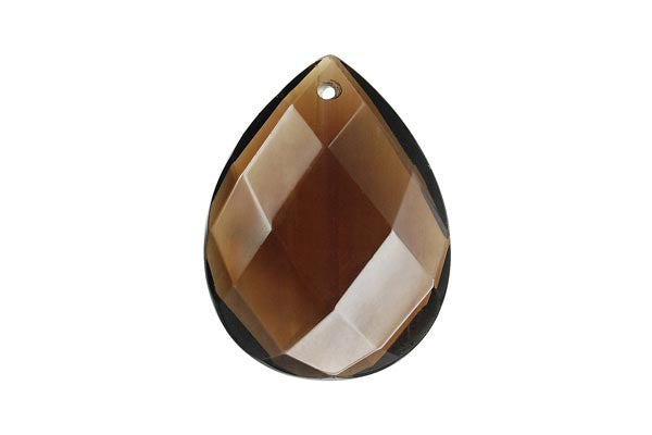 Pendant Smoky Quartz Faceted Flat Briolette