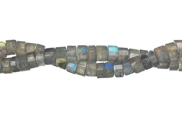 Labradorite Faceted Disc Beads