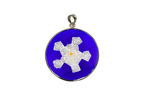 Pendant Millefiori Glass Coin 12