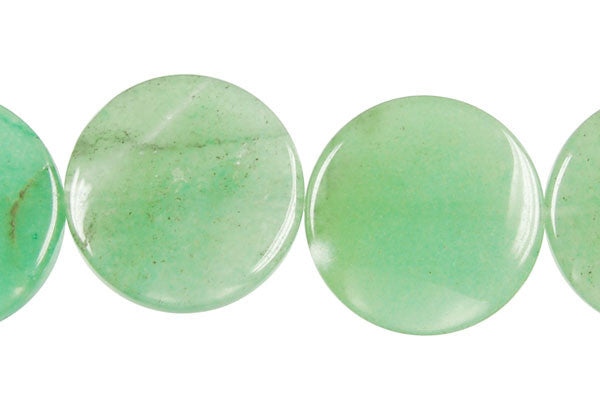 Green Aventurine Coin Beads