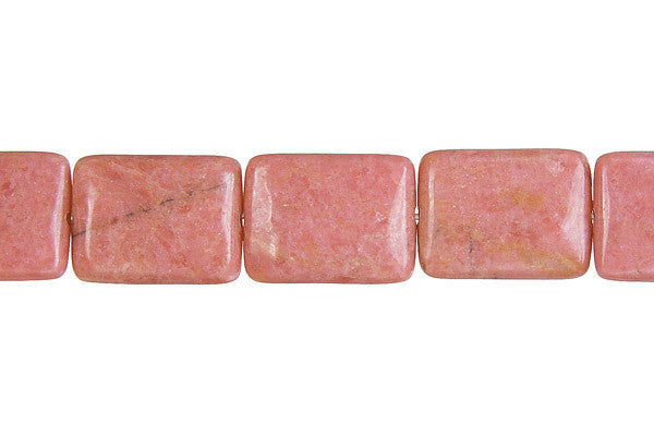 Rhodonite Flat Rectangle Beads