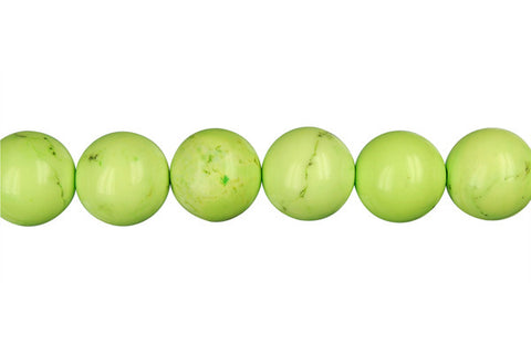 Howlite (Apple Green) Round Beads
