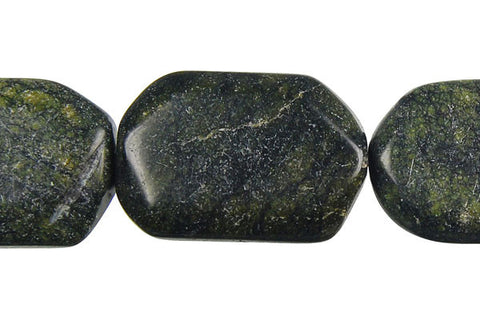 Russian Serpentine Hexagon Beads