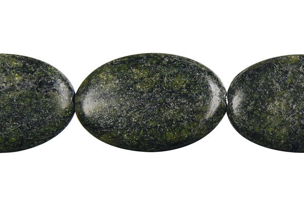 Russian Serpentine Flat Oval Beads