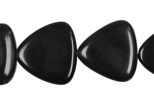 Black Swan Triangle (Round Corner) Beads