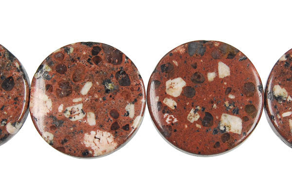 Mica Quartz Coin Beads