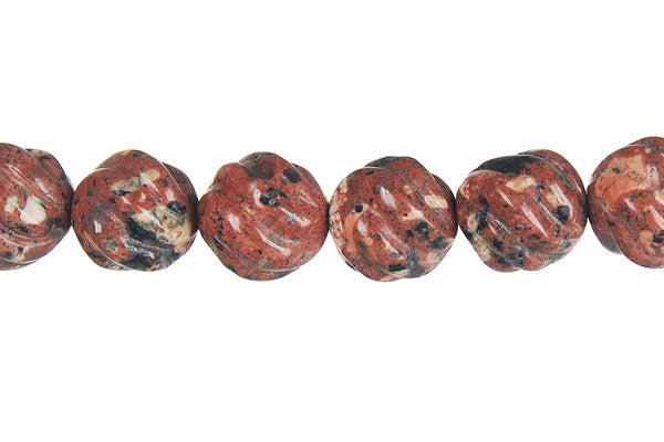 Mica Quartz Carved Wave (Round) Beads